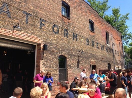 The patio was hopping at Platform Brewing Co's Grand Opening