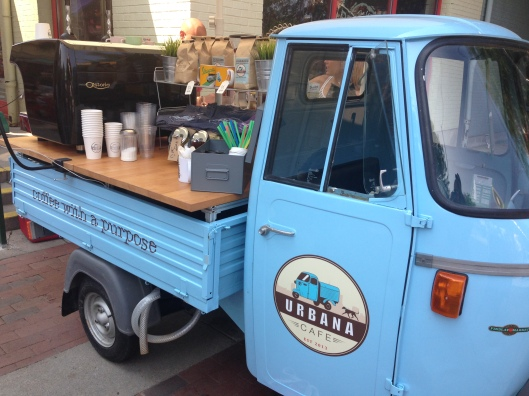 The cutest little coffee cart on Earth, at Findlay Market